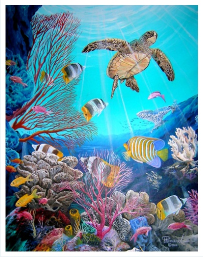 Best 25 underwater painting ideas on pinterest for Alex cherry flying whales wall mural
