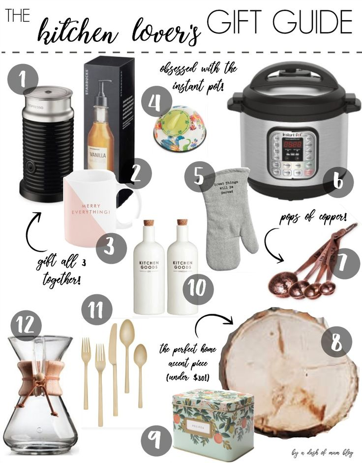 Beautiful kitchen and baking gift ideas for the home decor and kitchen obsessed family member or friend | Awesome Gift Ideas!