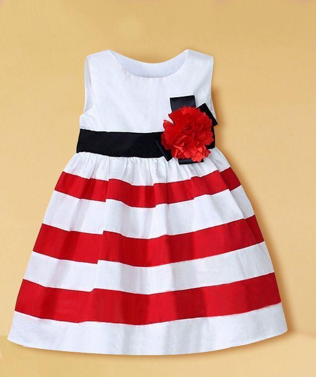 Free shipping 2014 kids Stripe summer dress baby girls dress sleeveless princess dress fashion baby dress #628