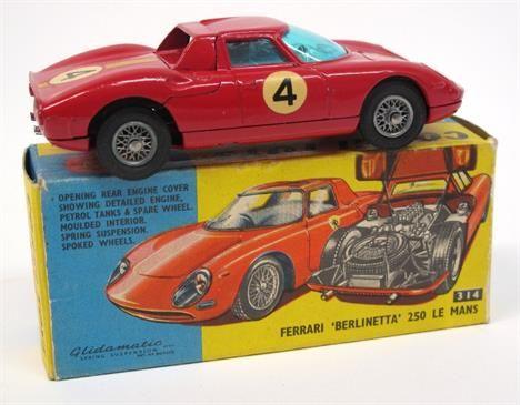 Lot 308 – Corgi Toys 314 Ferrari – Vintage Toys and Militaria 08 Jan 2014 http://www.candtauctions.co.uk/