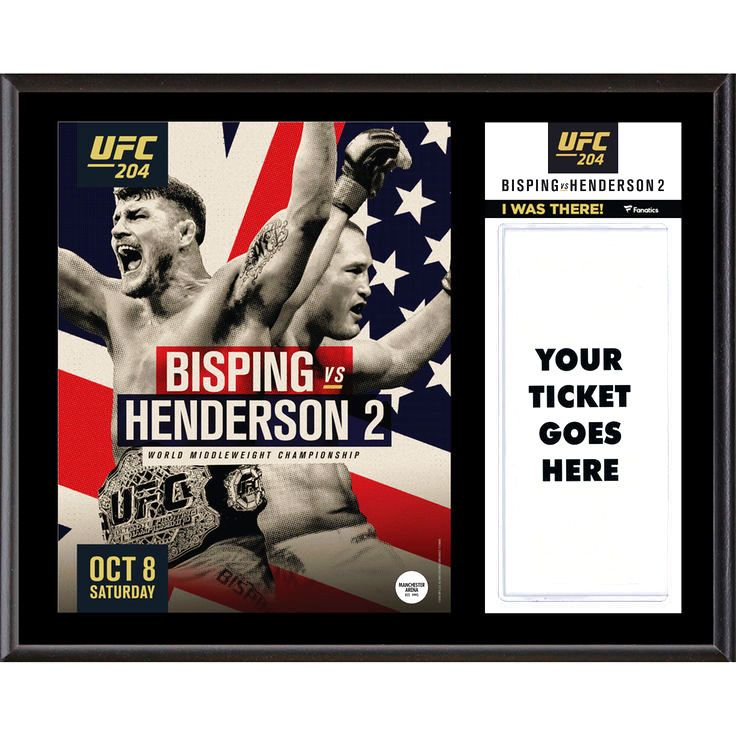 """Fanatics Authentic UFC 204 Michael Bisping vs. Dan Henderson Dueling """"I Was There"""" 12"""" x 15"""" Sublimated Plaque - $31.99"""