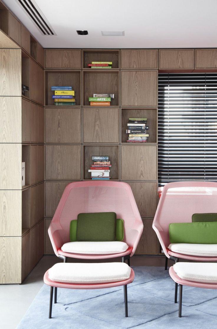 mid-century pink + green