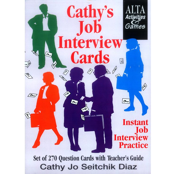 Job interviews can be terrifying, but these flash cards were expertly designed to help English language learners eliminate that fear with this invigorating set of 270 job interview questions!