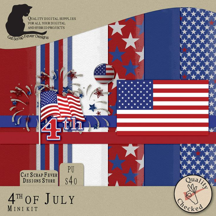 4th of July mini kit by Cat Scrap Fever