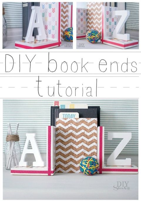 A to Z book ends tutorial @diyshowoff
