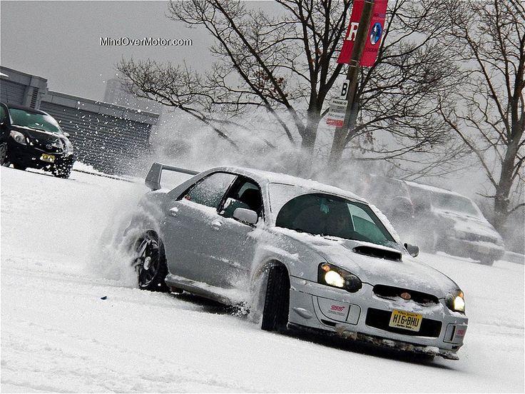 2004 Subaru WRX STi Snow Drifting