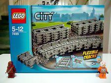 [new] LEGO 7499 CITY TRAINS 16 Flexible 8 Straight Tracks FREE POST 60051 60052!
