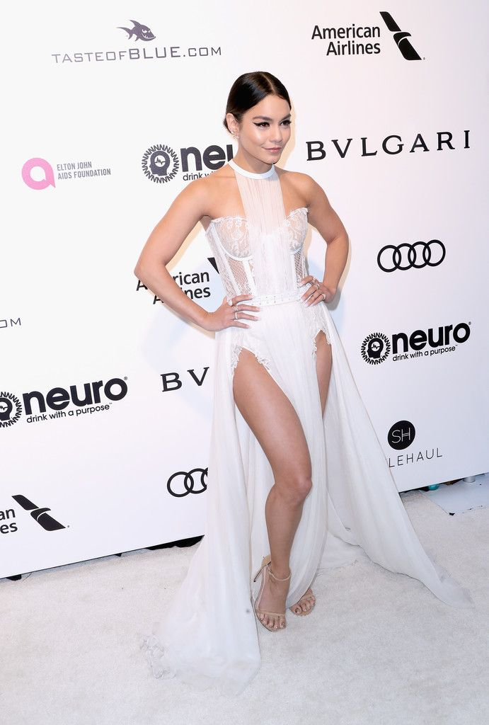Vanessa Hudgens in a White Corset Dress - The Most Fabulous Dresses at the Oscar After Parties 2017 - Photos