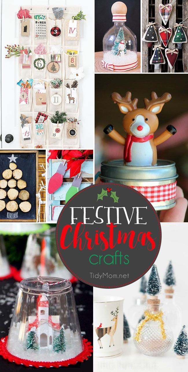 Have you seen these awesome christmas gifts - Festive Christmas Crafts The Whole Family Will Love