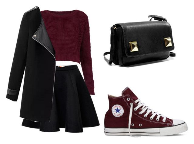 """""""converse"""" by tania-alves ❤ liked on Polyvore featuring Topshop, Converse, MSGM, Chicnova Fashion, Zara, women's clothing, women's fashion, women, female and woman"""