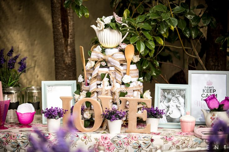 Bridal shower gift tea-towel cake