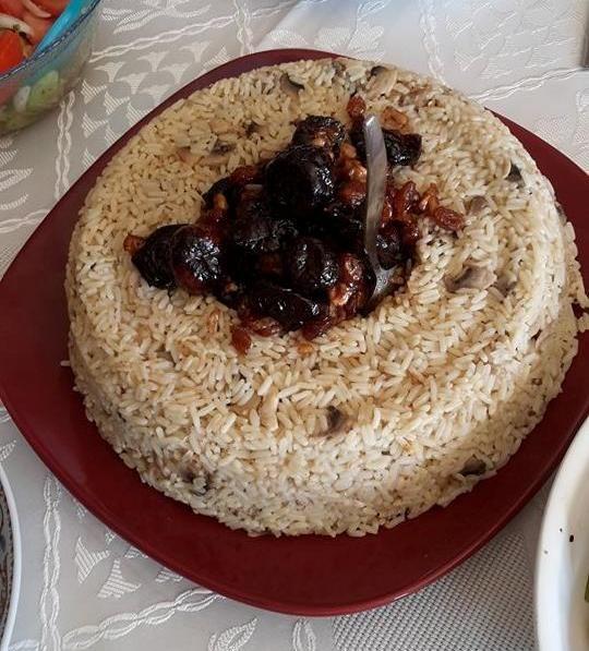 ergahandmade: Χριστουγεννιάτικο Ρύζι, με Δαμάσκηνα, Σύκα, Σταφίδες και Κοτόπουλο