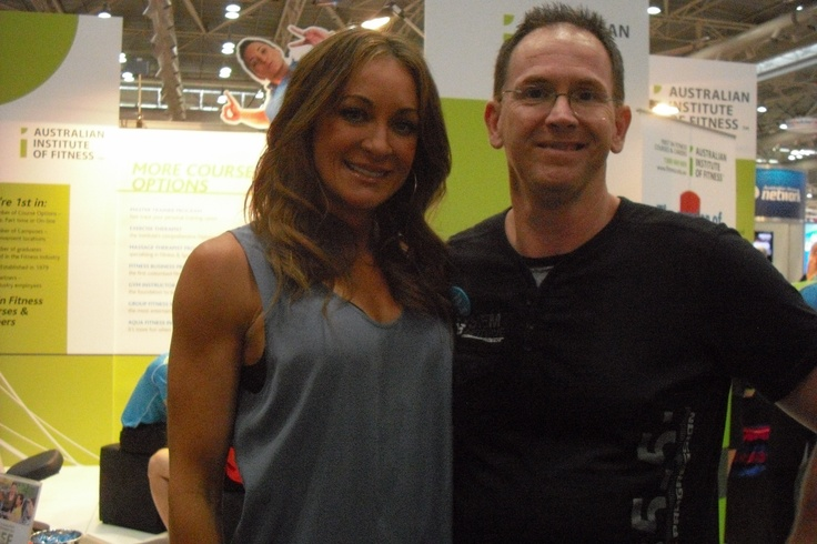 Michele Bridges at Filex - the other one is me!