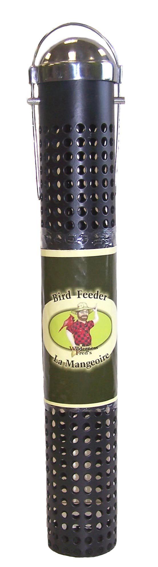 "SF16 16"" Metal Peanut & sunflower feeder 16"" Black Steel Peanut and Sunflower Feeder. Silver lid. hangs. Woodpecker Friendly!"