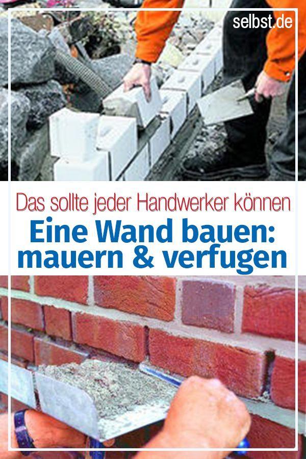Wand Bauen Mauer Bauen Verfugen Wande
