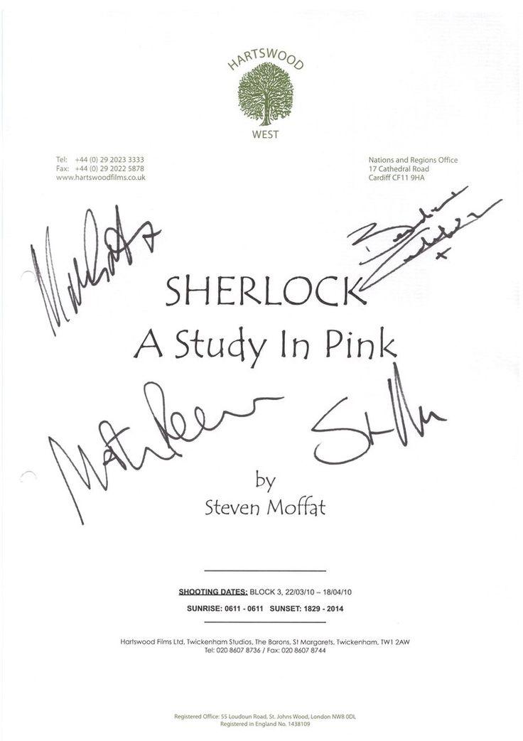 Sherlock. BBC. S1E1. Autographs