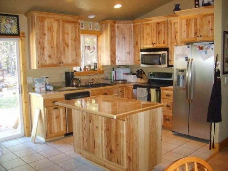 Knotty hickory kitchen cabinets hickory cabinets natural for How to make rustic cabinets