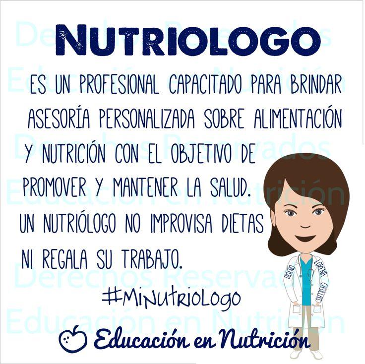 Un nutriólogo es un profesional capacitado para brindar asesoría personalizada sobre alimentación y nutrición con el objetivo de promover y mantener la salud. Un nutriólogo no improvisa dietas ni regala su trabajo #nutricioninfantil