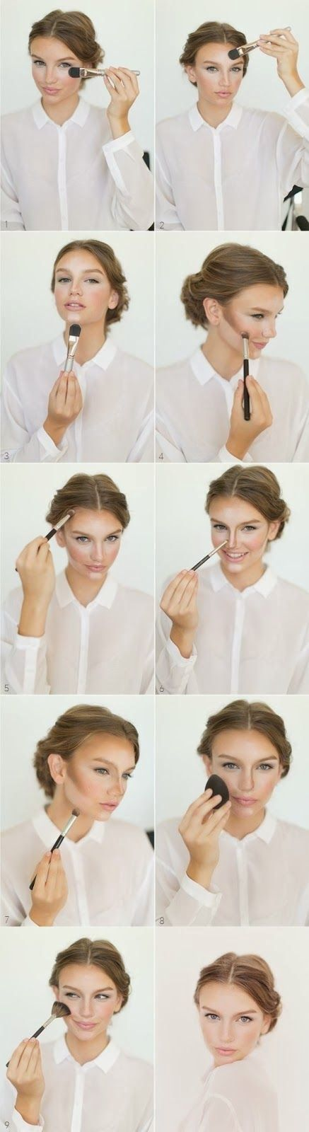 HOW TO CONTOUR AND HIGHLIGHT IN BEAUTIFUL EASY WAY http://howtochic.blogspot.it/2013/12/how-to-contour-and-highlight-in.html