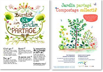 graphisme affiche et flyer jardin