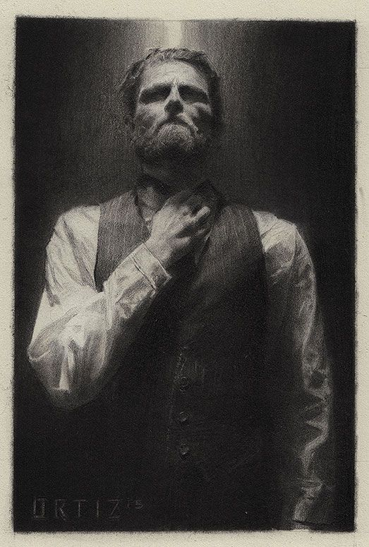Dramatic graphite drawings by Karla Ortiz - Artists Inspire Artists
