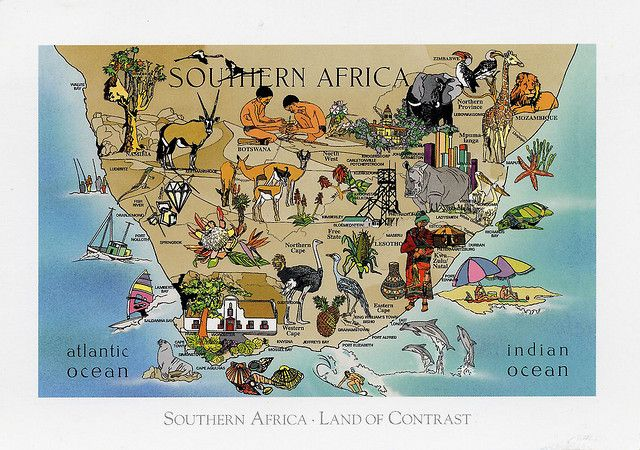 SurAfrica Map Card | Flickr - Photo Sharing!