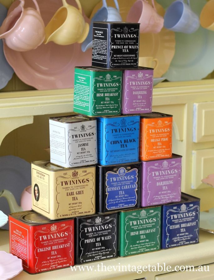 Love these #tea tins! Would make a great display.