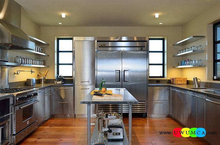 Kitchen:How To Clean Stainless Steel Kitchen Appliances Sinks Utensils Best Countertops Island Carts Table Chairs Dining Room Worktops Contemporary Kitchen With Shiny Stainless Steel Surfaces How to Clean Stainless Steel for a Sparkling Kitchen Appliances and Sinks then Utensils