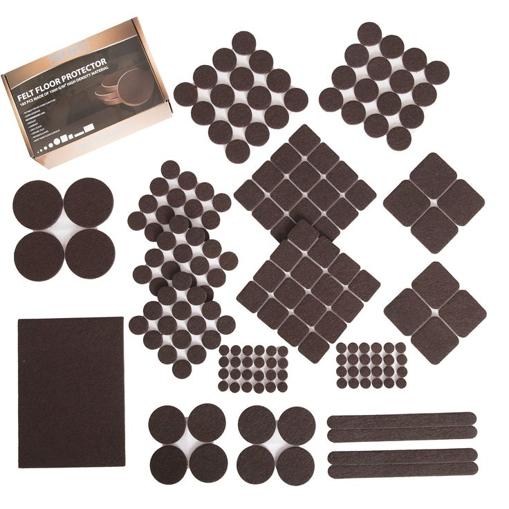 185 pcs pack! Furniture Felt Pads - Premium Felt and Heavy Duty Adhesive - Floor Protector for wood, tile floor and all hard surfaces. Best for chair legs, Tables, Sofas, Desks and more #besthardwoodflooring