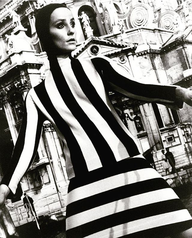Terence DonovanElle 1965 #fashionjournal #elle #fashion #style #stripes #blackandwhite #lovejob #graphic #inspiration #trends #terencedonovan
