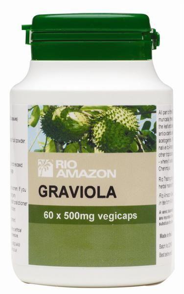 TS Products Graviola 60 capsules - Graviola (Annona muricata), dat ook wel bekend staat als Zuurzak (in het Engels: Soursop), is een boom met vruchten die bijzonder rijk is aan vitamine C en diverse B-vitamines. De vruchten van de Graviolaboom ondersteunen het immuunsysteem en zijn een goede bron van anti-oxidanten.