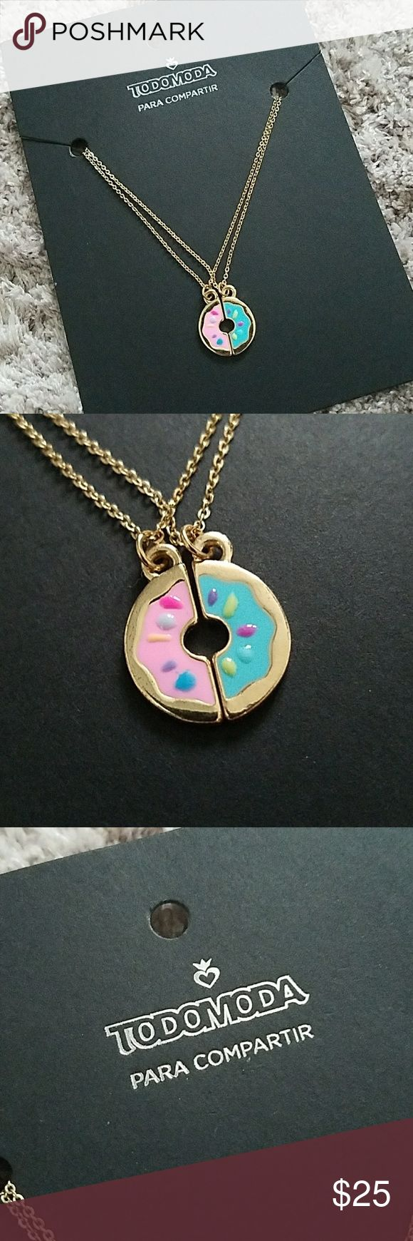 Todomoda Donut Bestfriends Necklace 2 bff necklaces! Purchased outside of us from a store called todomoda, price firm UNIF Jewelry Necklaces
