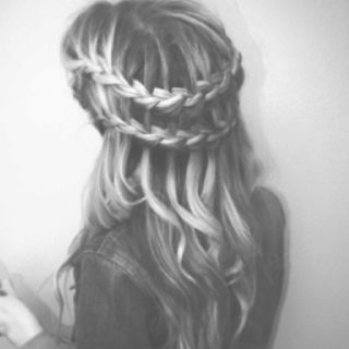 Braid, waterfall braid