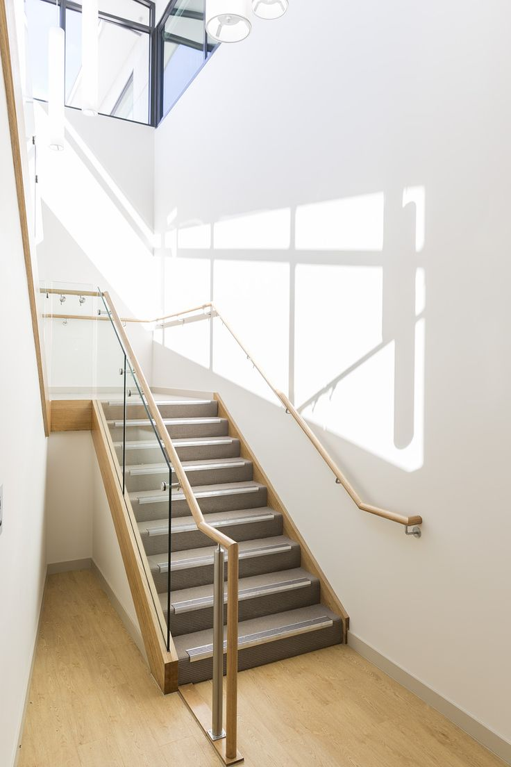 Stair | Staircase | Commercial | Non Slip Treads | Tasmanian Oak | Closed  Stair |