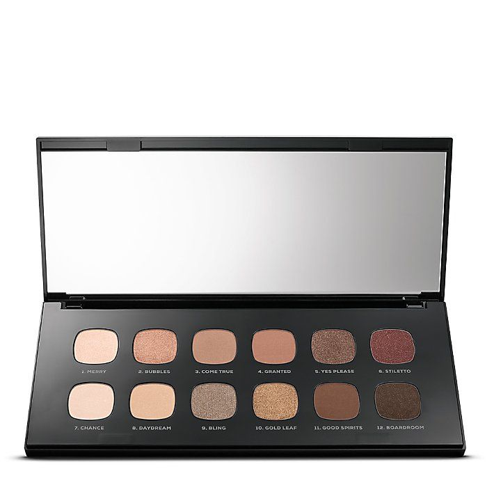 Eyeshadow palette made up of 12 stunning  soft matte to rich metallic shades to rock around every holiday hot spot.
