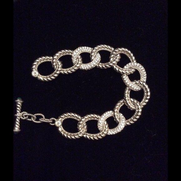 Judith Ripka Sterling Silver Bracelet 7 1/4 Judith Ripka women 's sterling silver bracelet. Judith Ripka Jewelry Bracelets.