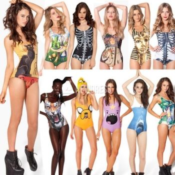 Hot Sale Sexy Women Print Bikini Cheap One Piece Swimsuits Holiday Beach Dress Fashion One Piece Swimwear 11Colors
