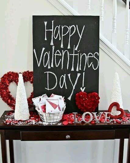 Valentine's Day Decor Idea - Black, Red and White
