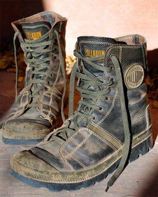 Leather Palladium Boots!