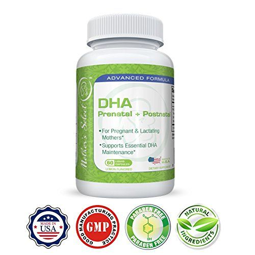 Prenatal DHA - Mother's Select DHA Pre-Natal - EPA Fish Oil, 60 Softgels, Liquid Capsules - Lemon Flavor - Provides Essential One A Day Fatty Acids for Pregnant, Breastfeeding and Lactating Mothers! #Prenatal #Mother's #Select #Natal #Fish #Oil, #Softgels, #Liquid #Capsules #Lemon #Flavor #Provides #Essential #Fatty #Acids #Pregnant, #Breastfeeding #Lactating #Mothers!