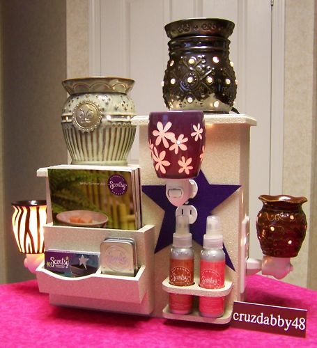 Twin Display Tower for Scentsy Plug-Ins, Warmers, Room Sprays, Travel Tins, Business Cards, & Catalogs! Awesome Idea! ♥ https://boxers.scentsy.us/Scentsy/Home