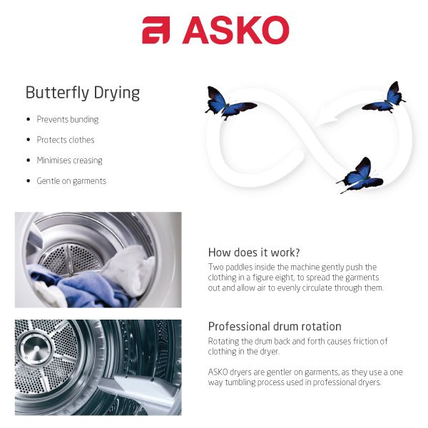 ASKO Commercial dryers are easy to use and assure precise drying results.