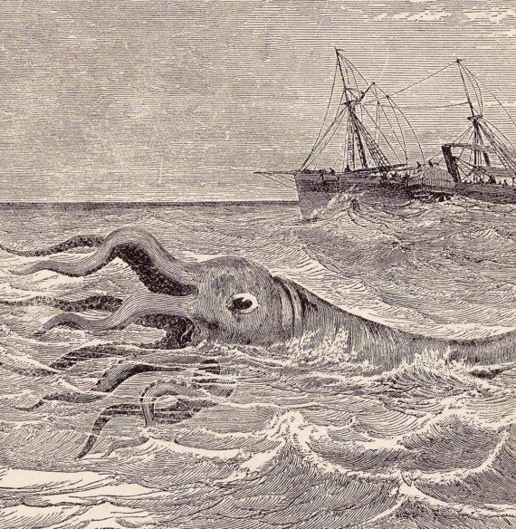 Image result for old fashioned sea monsters