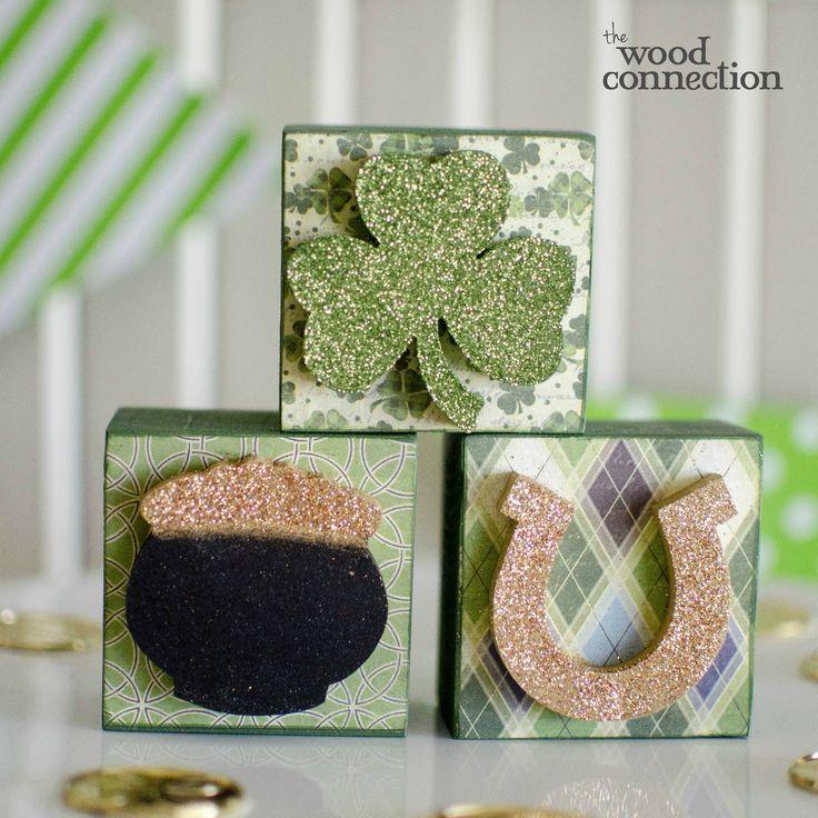 The Wood Connection - St. Patricks Block Trio, $4.50 (http://thewoodconnection.com/st-patricks-block-trio/)