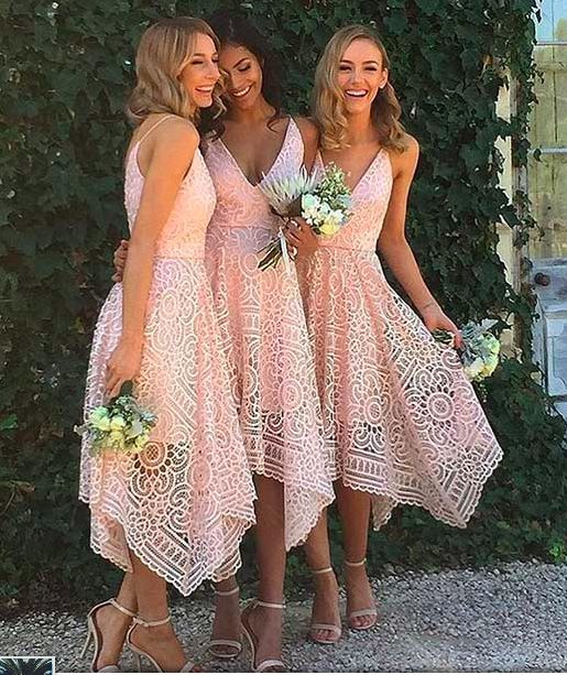 Beautiful Custom bridesmaid dress, Sleeveless Newest Spaghetti Strap
