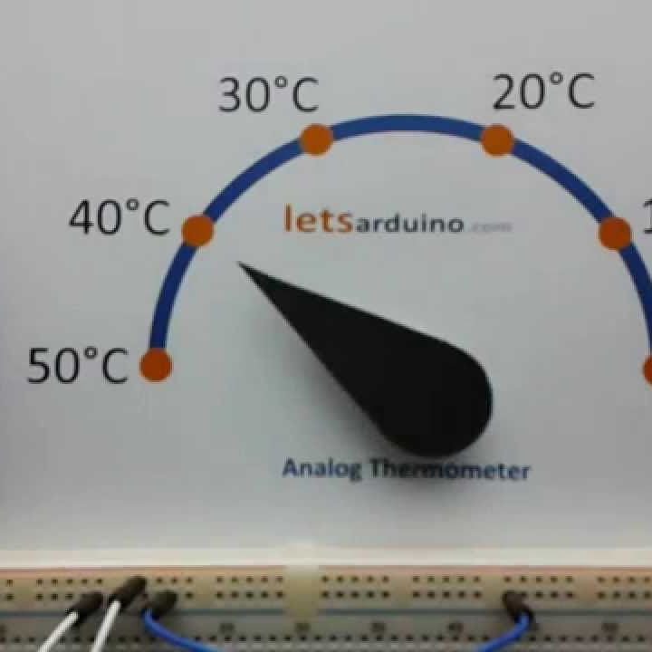 http://www.letsarduino.com/project-14-servo-motor-controlled-analog-thermometer-using-thermistor-ntc-arduino/ http://www.youtube.com/watch?v=78b_9sKNLy4 #thearduinoshop