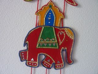 Felt wall hanging - Indian Elephant