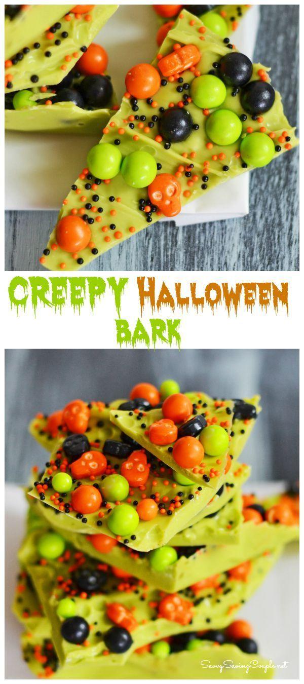 10 Minute Creepy Halloween Candy Bark-YES Please!