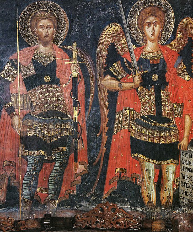 Монастырь Варлаама, Архангел Михаил и Феодор Тирон, XVI в.