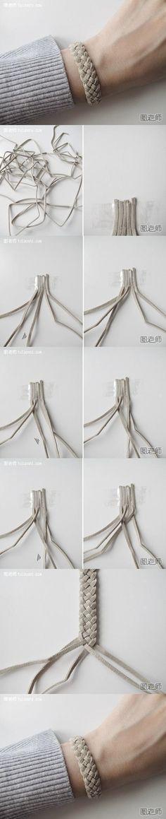 DIY Gevlochten armband:  De vlecht is in het begin een beetje lastig en moet je er een beetje makkelijkheid in krijgen, maar het eind resultaat is het zeker waard <3